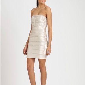 BCBGMaxAzria Metallic Rebecca Mini Dress NWT